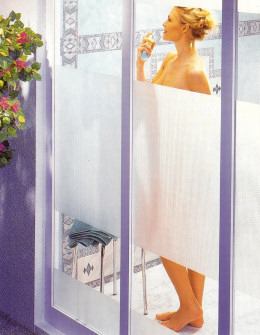 Privacy with self adhesive film